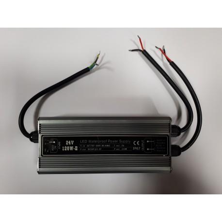 Power supply SUR-24120-E 24V IP67 100 Watts 2 Output avec AC PLUG