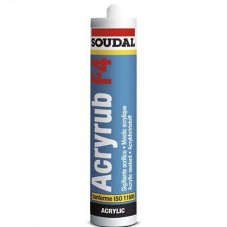 Mastic acrylique blanc - 300 ml - Acryrub F4 - Soudal