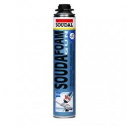 Mousse PU pistolable, soudafoam CLICK & FIX - Soudal Jaune