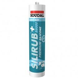 Silicone sanitaire blanc - 310 ml - Silirub+ S8000 - Soudal
